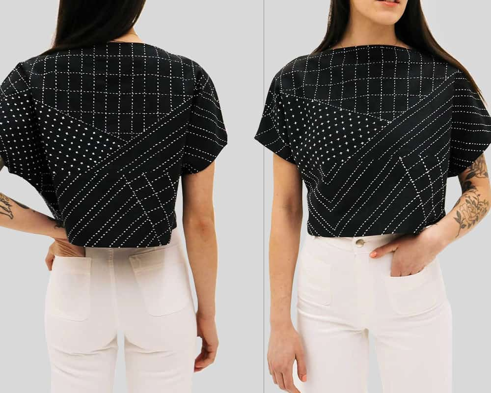 Anchal Organic Box Crop Top - Charcoal
