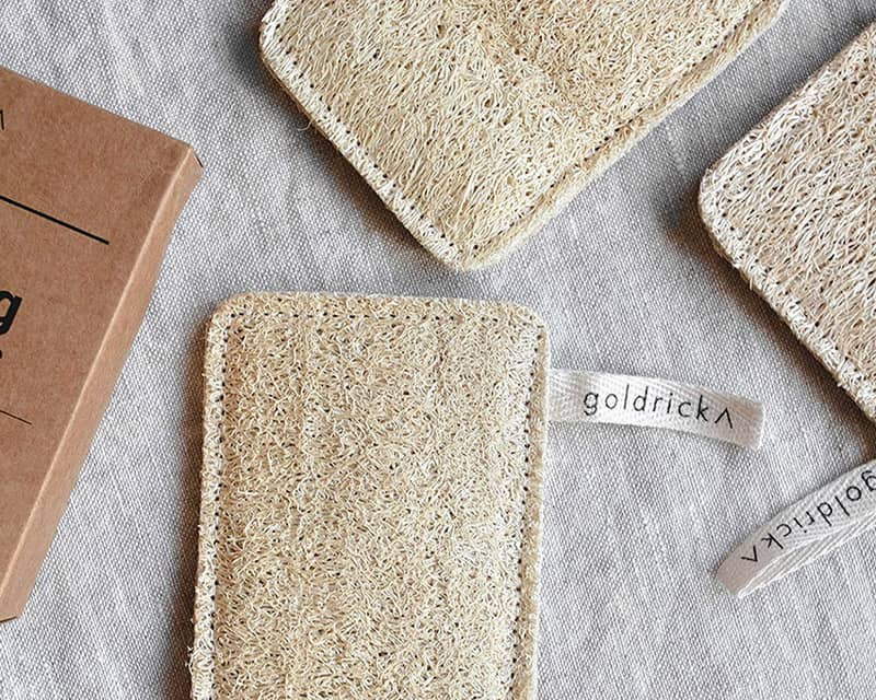 zero waste sponges on a surface
