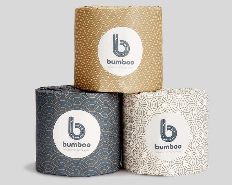 bamboo zero waste toilet paper 3 rolls