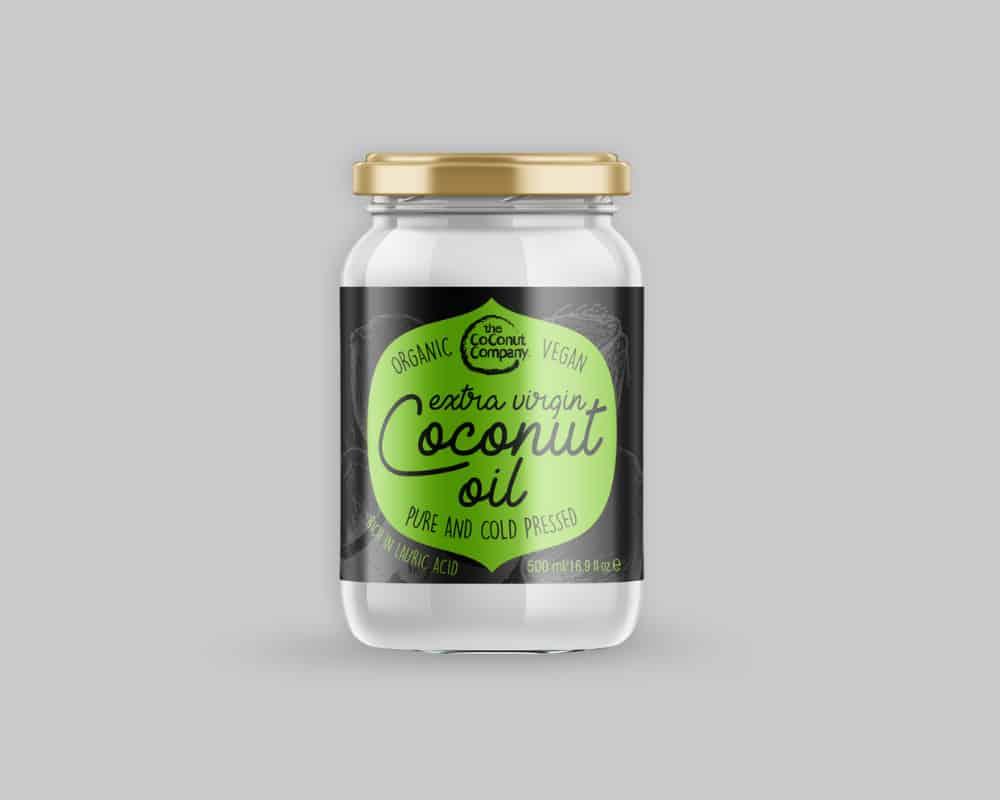 cocnut oil in a jar