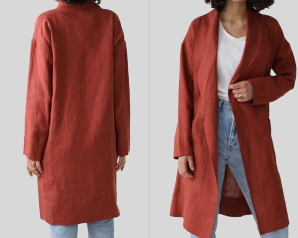 Long red jacket