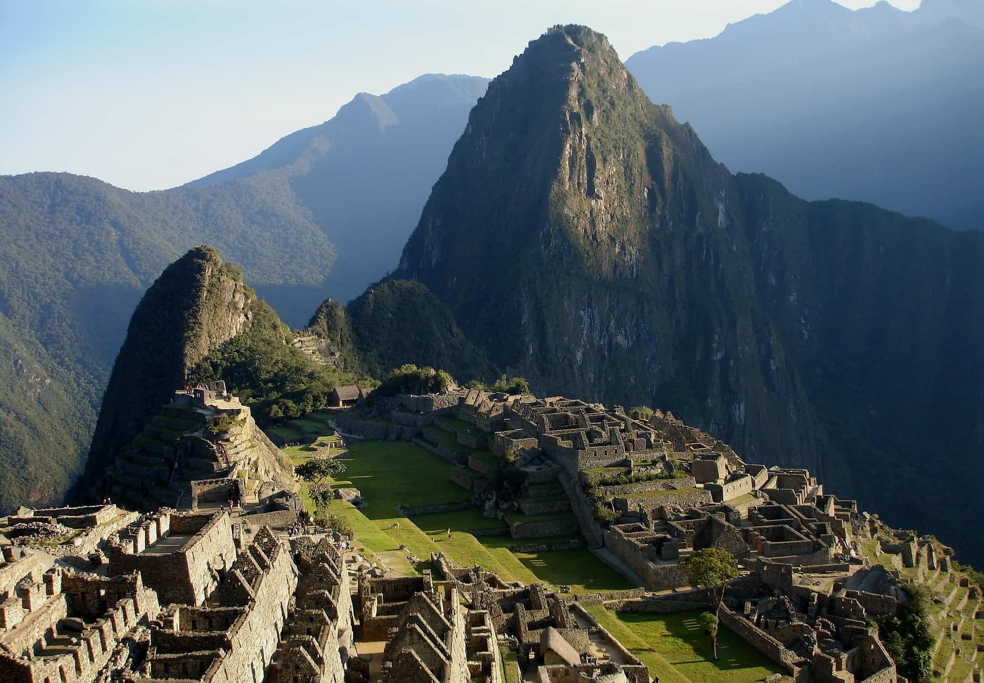 machu pichu view from above