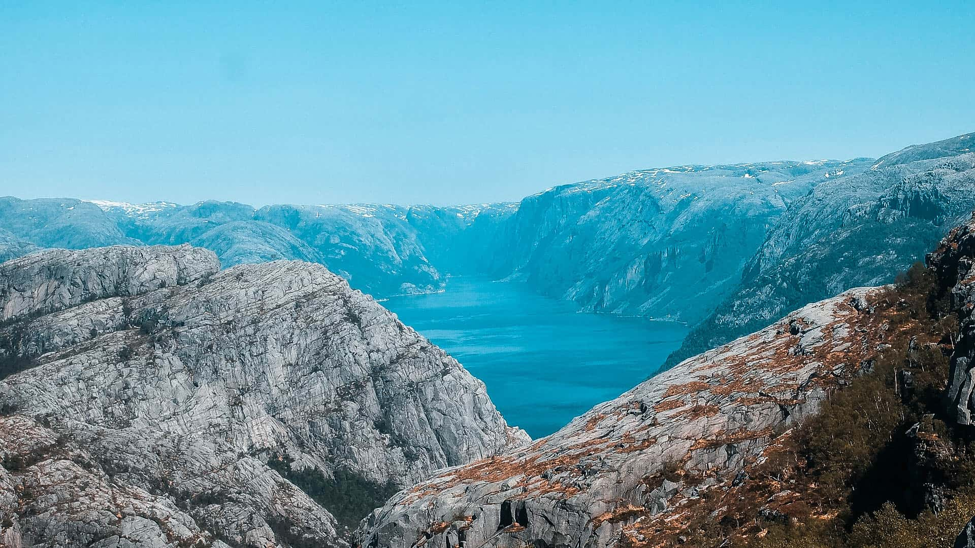 Lysefjord view from above