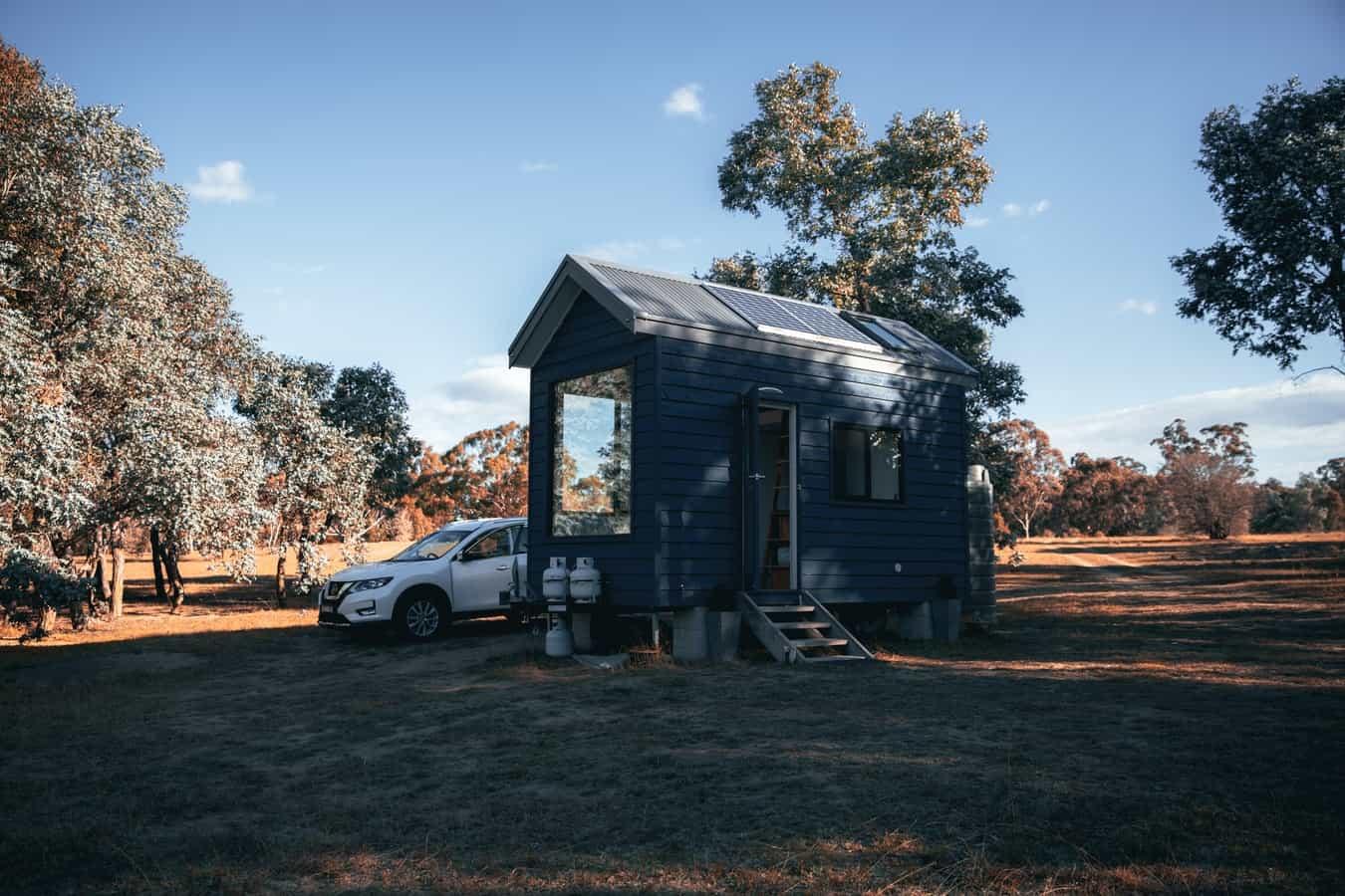 tiny house and car