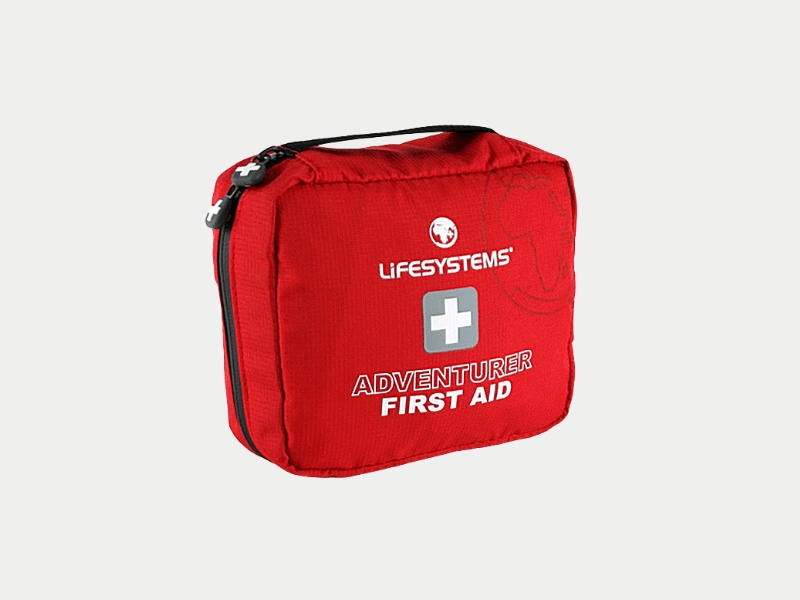 first-aid kit red essential for camping