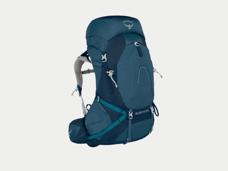 osprey backpack 50L blue